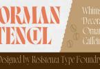 Norman Stencil Font Family
