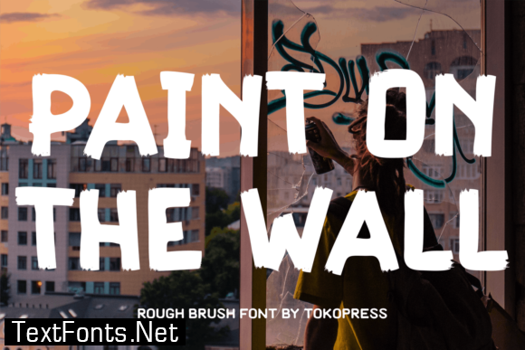 Paint on the Wall Font
