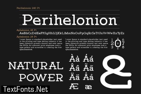 Perihelonion Font