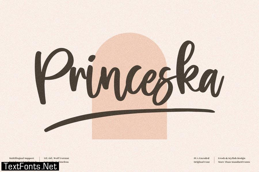 Princeska Handwritten Font LS