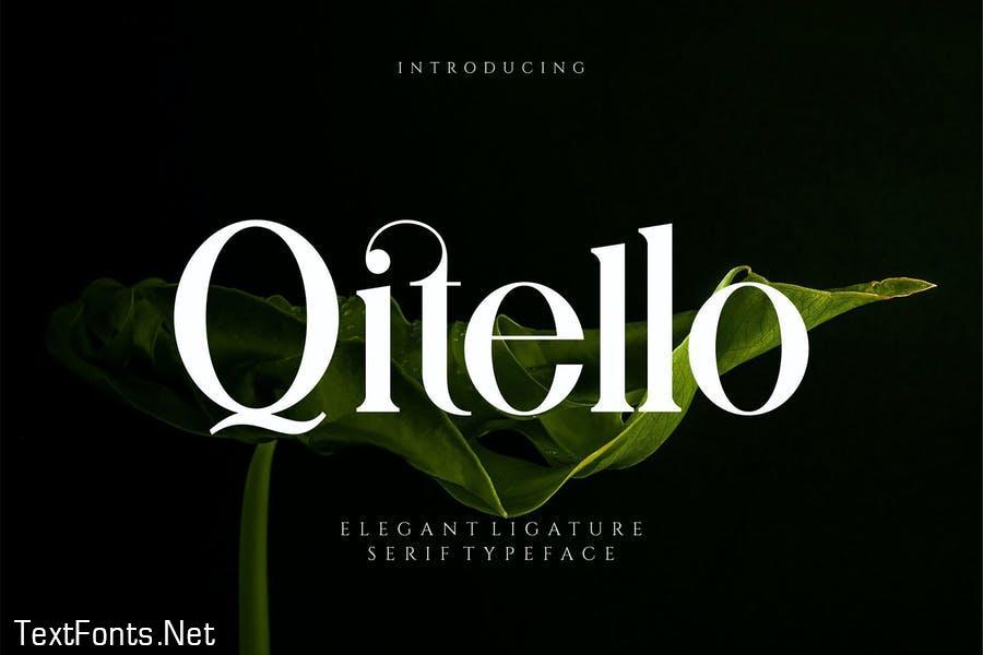 Qitello Ligature Serif Typeface
