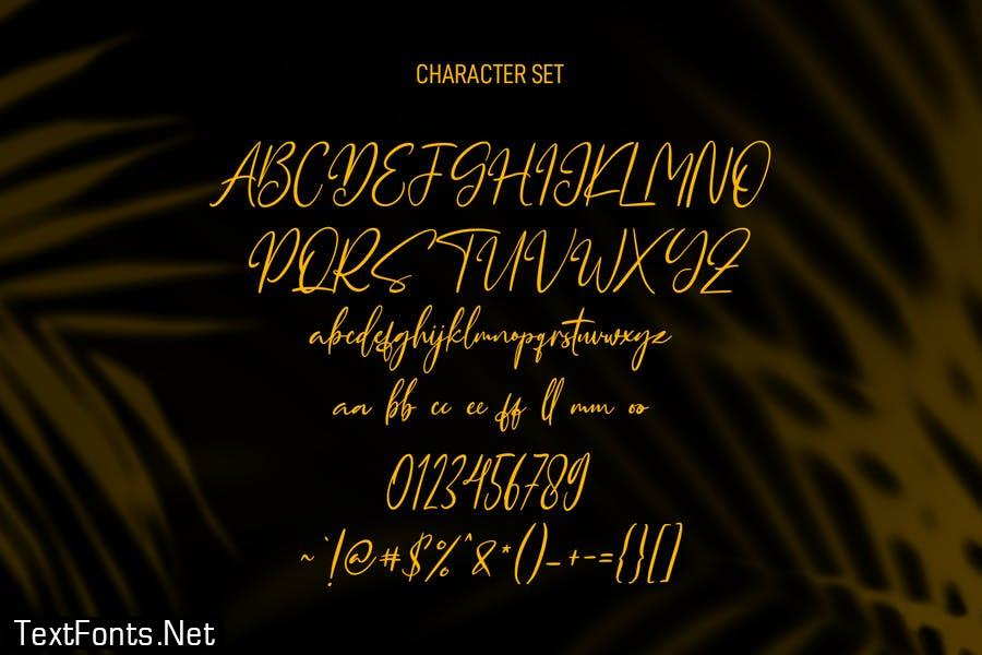 Queensytrix Signature Script Font