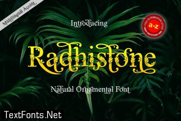 Radhistone Font