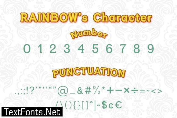 Rainbow Serif Font