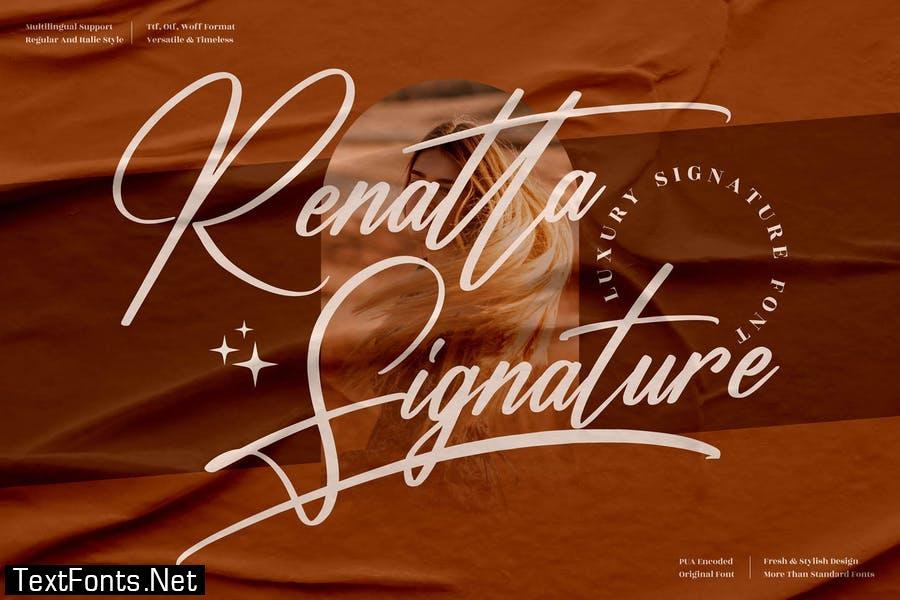Renatta Signature Font LS