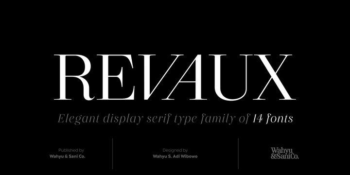 Revaux Font Family