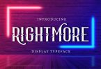 Rightmore | Display Typeface