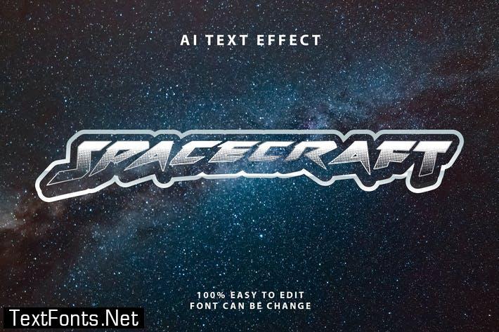 Spacecraft Halftone Text Effect