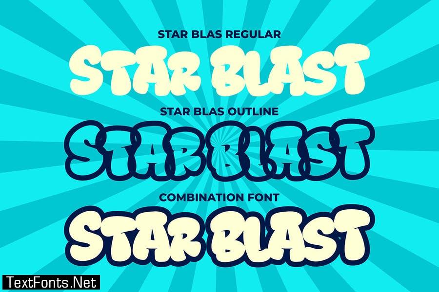 Star Blast a Playful Cartoon Font