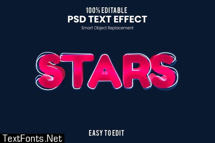 Stars - Fun 3d Text Effect
