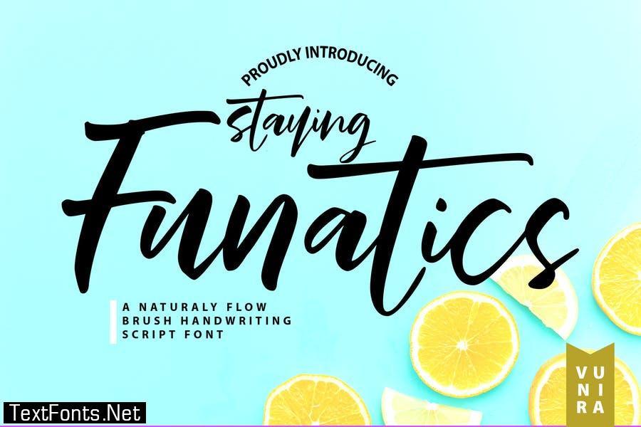 Stay Funatics   Brush Handwriting Script Font