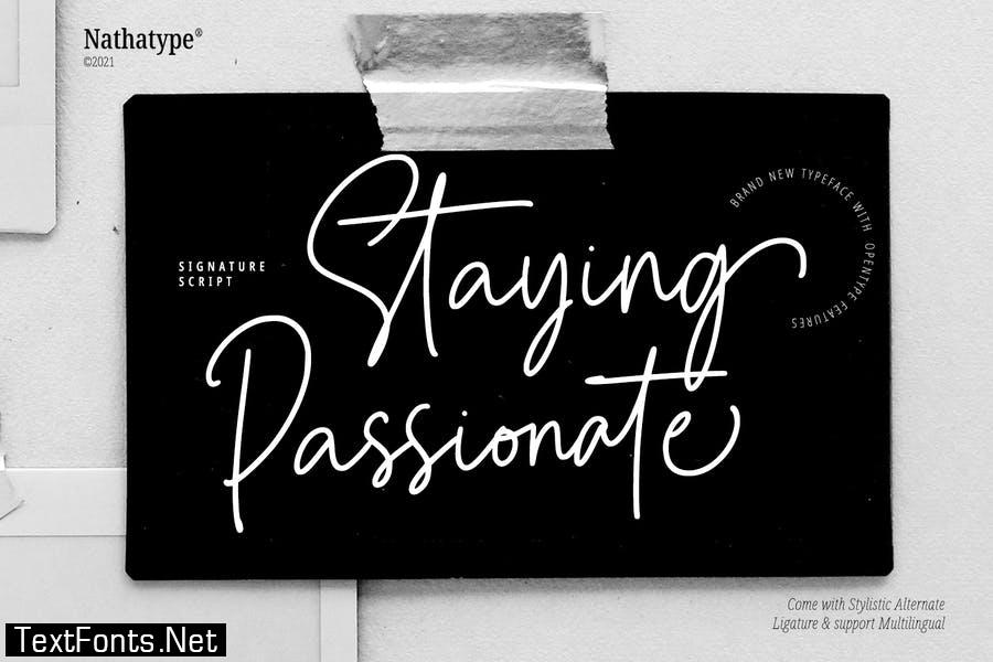 Staying Passionate Font