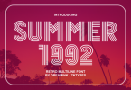 Summer 1992 Font