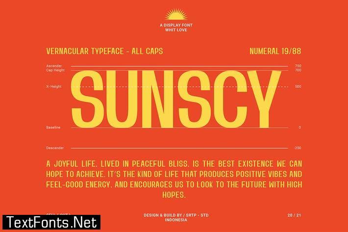 SUNSCY Font