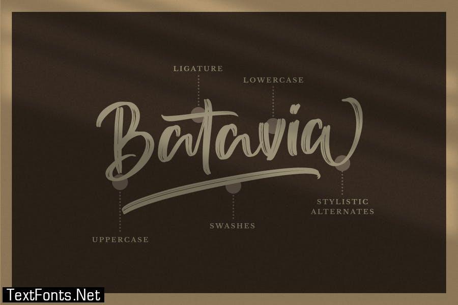 Sutten Batavia - Brush Font