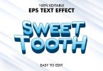 Sweet Tooth - Editable 3D Text Effect EPS