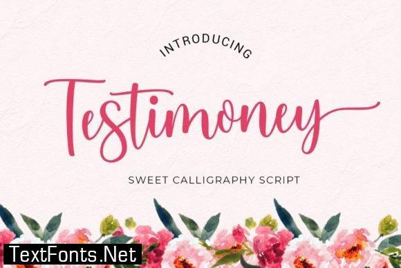 Testimoney Font