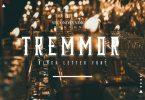 TREMMOR - Black Letter Font