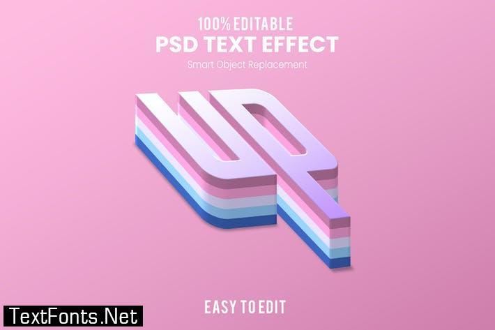 Up-3D Text Effect