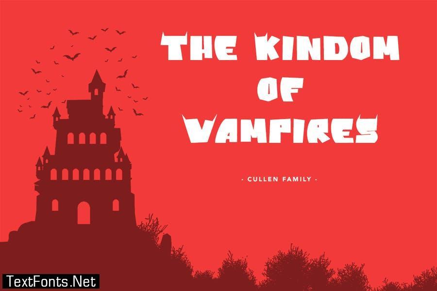 Vampire Bats - Halloween Display Font