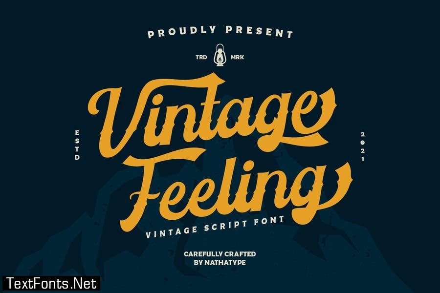 Vintage Feeling Font