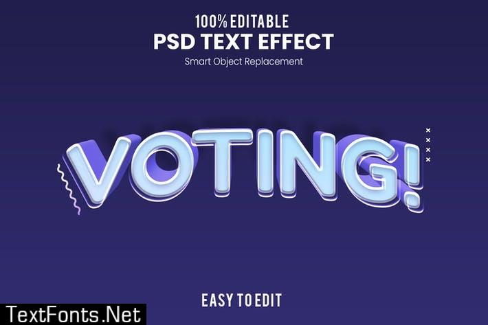 Voting - Fun 3d Text Effect