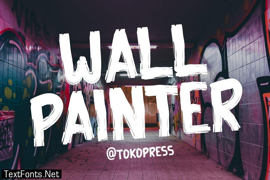 Wall Painter - Rough brush font