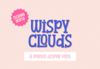 Wispy Clouds Font