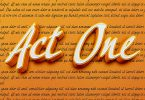 Act One Font