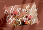 Alisabela Brushley Brush Script Font LS