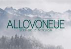 Allovoneue Semi-Bold Font