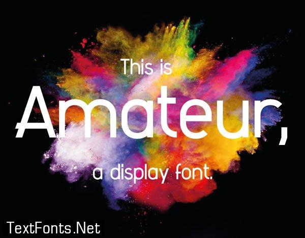 Amateur Font