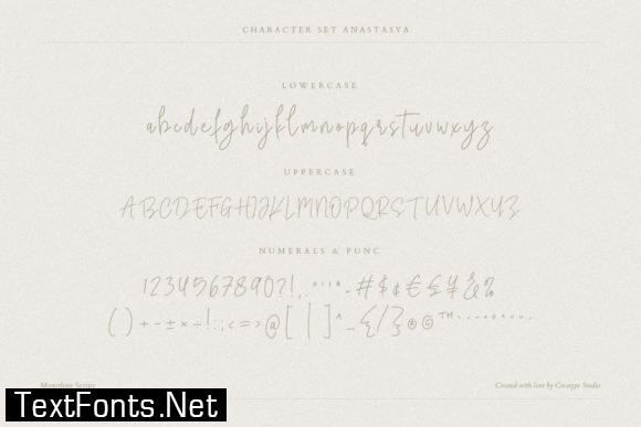 Anastasya Script Font