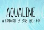 Aqualine Font