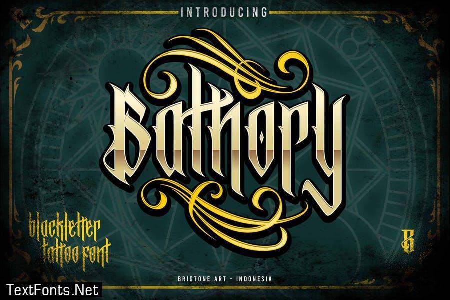 Bathory - Blackletter font