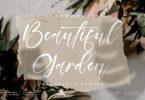 Beautiful Garden Script Font LS