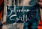 Beterdam Smith Signature Font LS