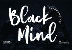 Black Mind | A Brush Script Font