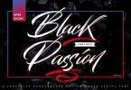 Black Passion - Brush Script Font