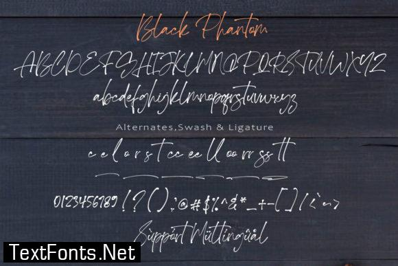 Black Phantom Font