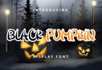 Black Pumpkin Font