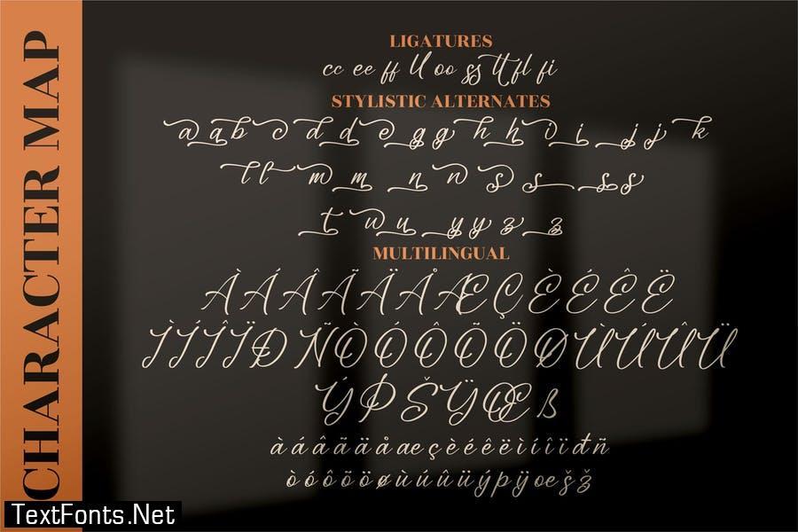 Blendaria Modern Script Font LS