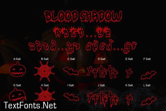 Blood Shadow Font