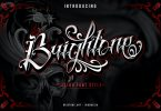 Brigthone - Tattoo Lettering Font