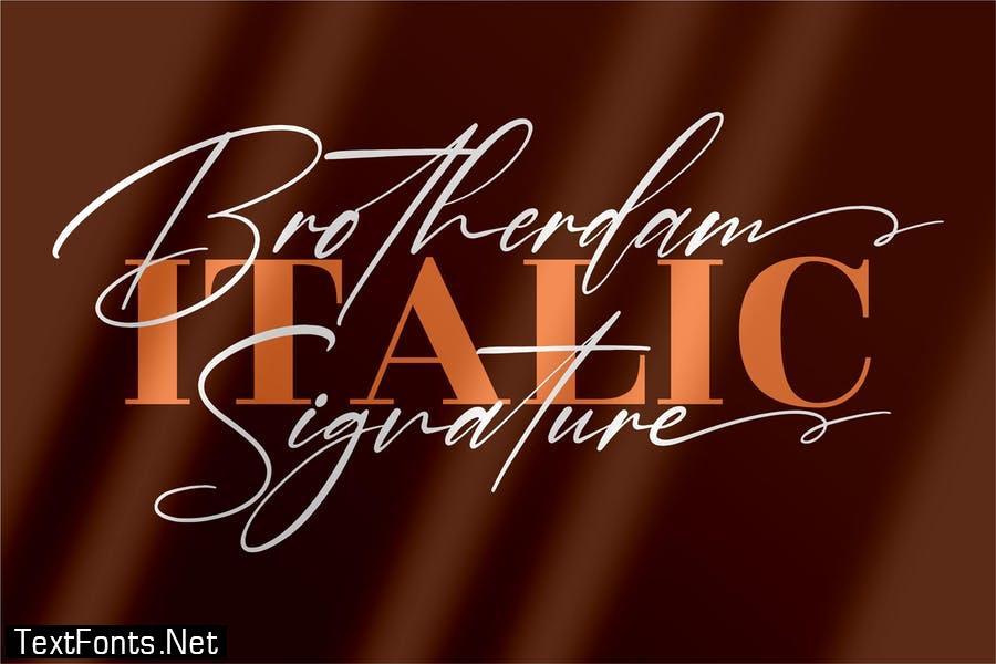 Brotherdam Signature Font LS