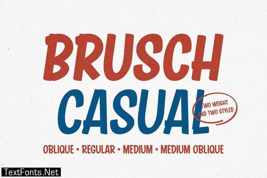 Brusch Casual Font