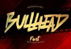 Bullhead - bold Brush Font
