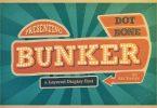 Bunker Typeface Font