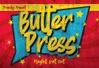 Butterpress - Grungy cartoon Font