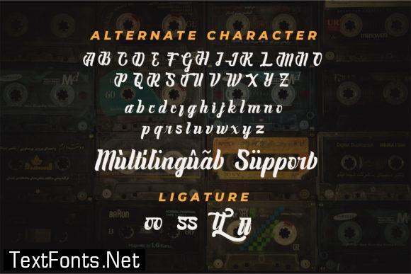 Cassete Script Font